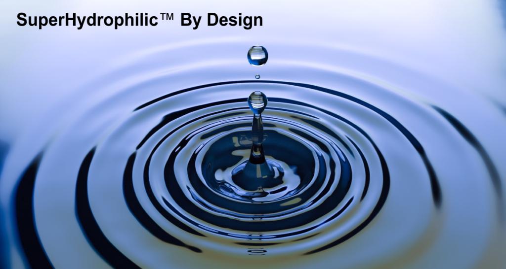 SuperHydrophilic by design